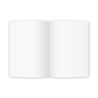Open magazine or book white blank pages. template for brochure