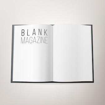 Open magazine spread blank vector