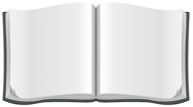 Open magazine with a clean blank sheet