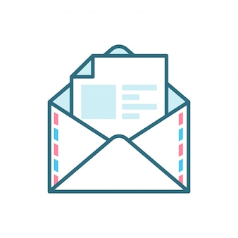 Open mail flat icon