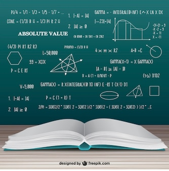 Open math book Premium Vector