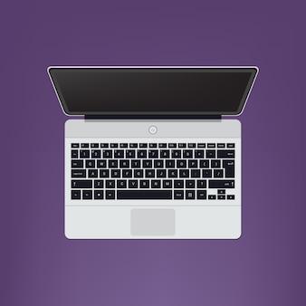 Open modern laptop