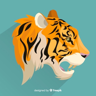 Open mouth tiger background