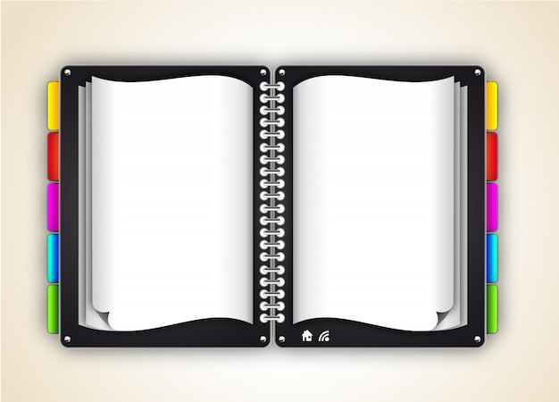 Open notebook with tags