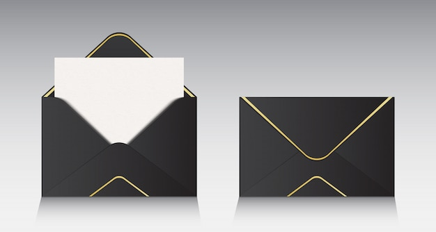 Open paper envelope, message, mail, email.
