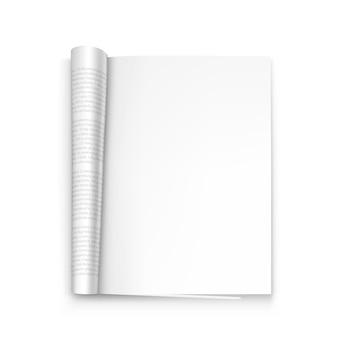 Open the paper journal art. vector illustration