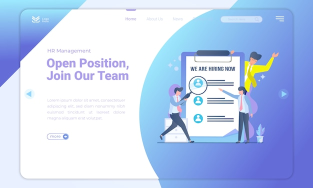 Open position we are hiring landing page template