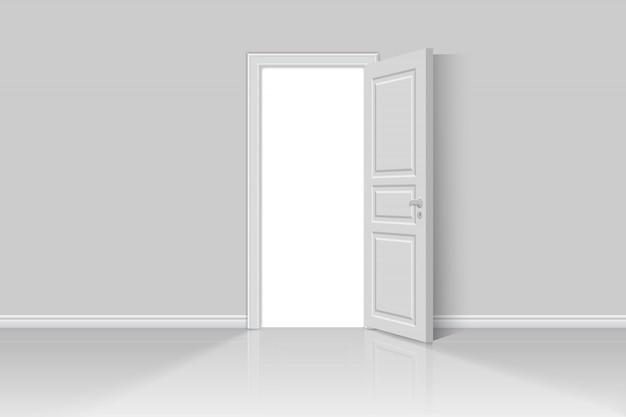 Open realistic door
