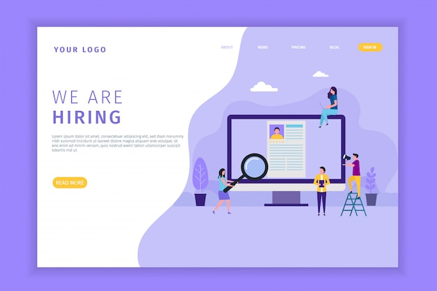 Open recruitment landing pages