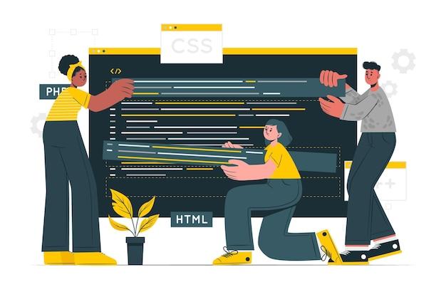 Illustrazione del concetto open source