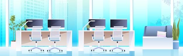 コンピューターモニター付きオープンスペースコワーキングセンター職場家具水平のモダンなキャビネットインテリアオフィスルーム