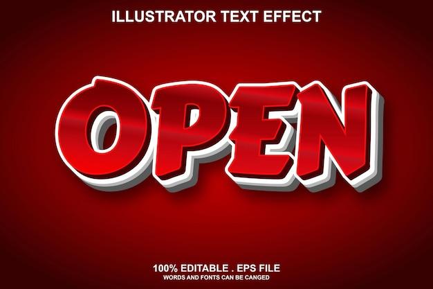 Open text effect editable