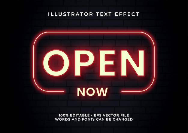 Open text effect