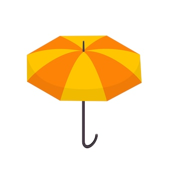 아이소메트릭 격리에서 비 벡터 그림으로부터 보호하기 위해 긴 손잡이가 있는 열린 우산