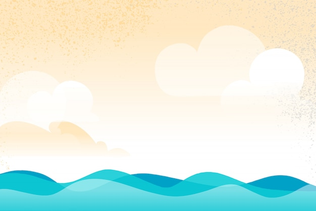 Open water scenario background with waves flow