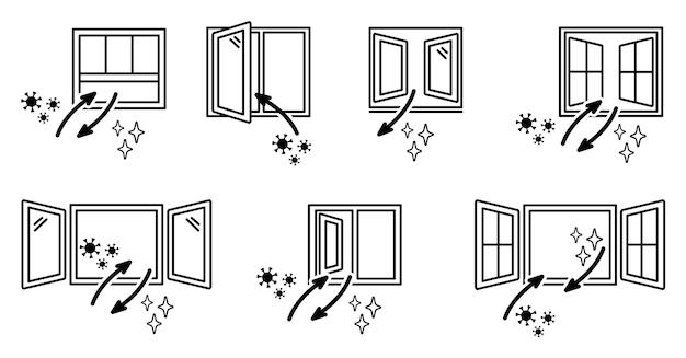 開いている窓と空気交換