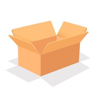 Открытая коробка, изолированная на белом