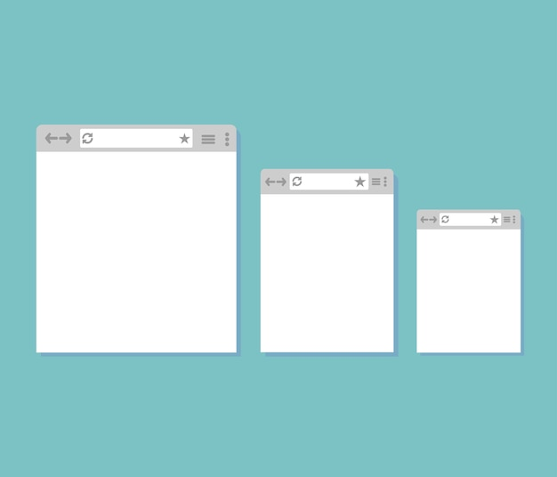 Opened browser window template.