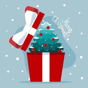 クリスマスツリーの入ったギフトボックスを開けました。