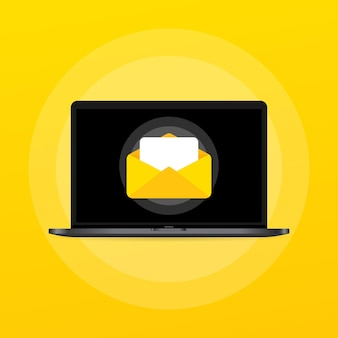Opened letter with document illustration. email. message. vector on isolated background. eps 10.