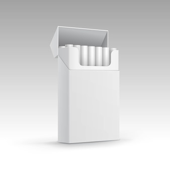 Opened pack of cigarettes isolated on background