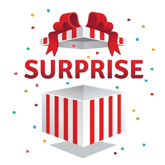 Открытая подарочная коробка с сюрпризом