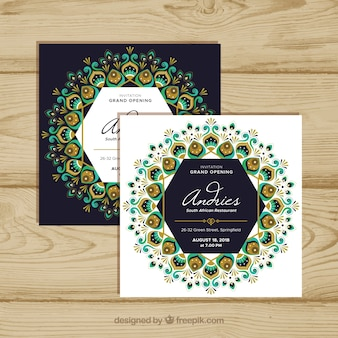 Opening card with mandala