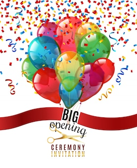 Opening ceremony invitation background