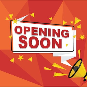 Opening Soon Background With Paper Sign Vector Free Download
