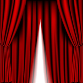 Opening red curtain  for background
