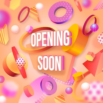 Opening soon 3d background