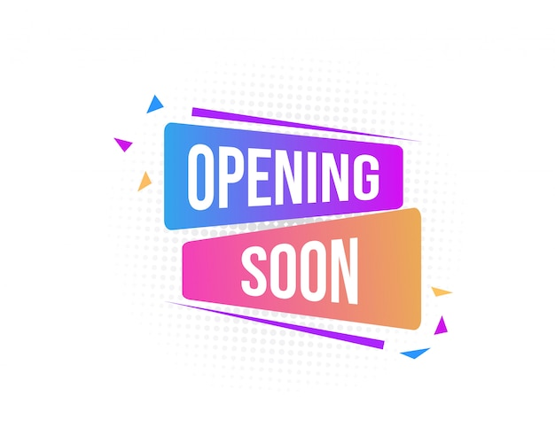 Opening soon abstract banner