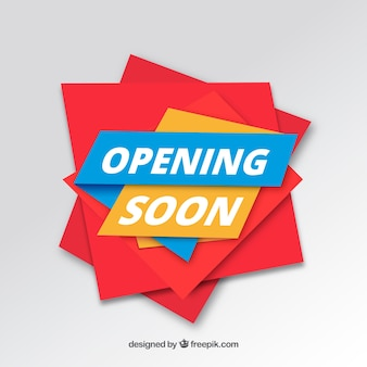 Opening soon background in 3d style