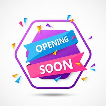 Opening soon background composition with flat design
