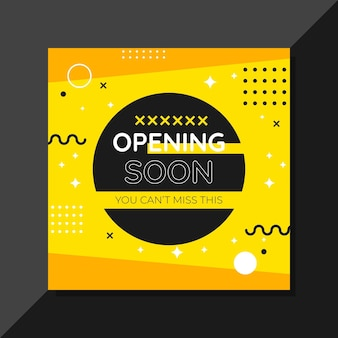 Opening soon background design