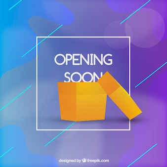 Opening soon background in gradient style