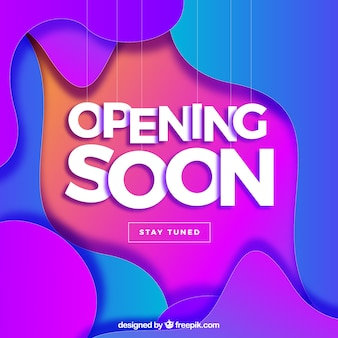 Opening soon background in gradient colors