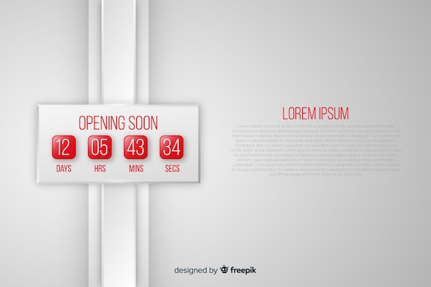 Opening soon background in realistic style