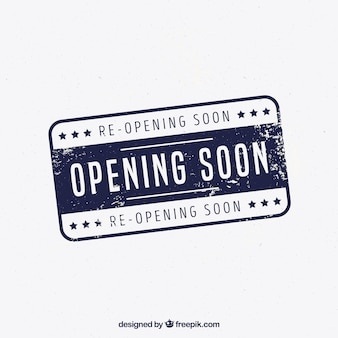 Opening soon background vintage style with typography