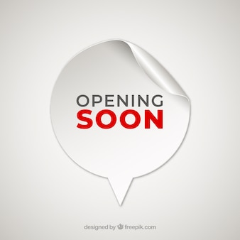 Opening soon background with sticker