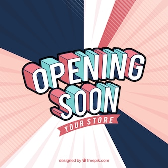 Opening soon background with typography