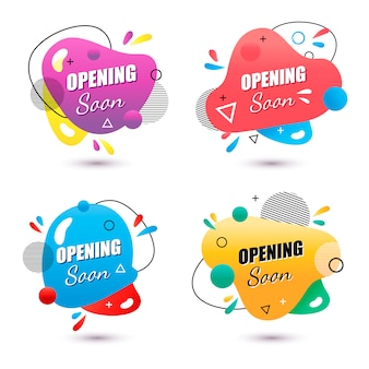 Opening soon banner set