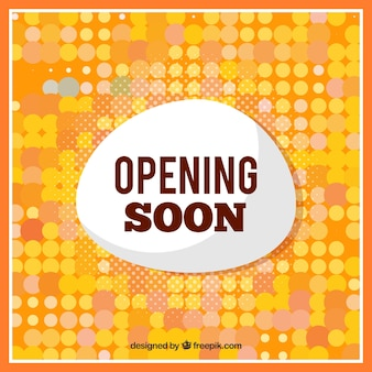 Opening soon composition with flat deisgn