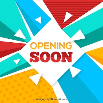 Opening soon composition with flat design