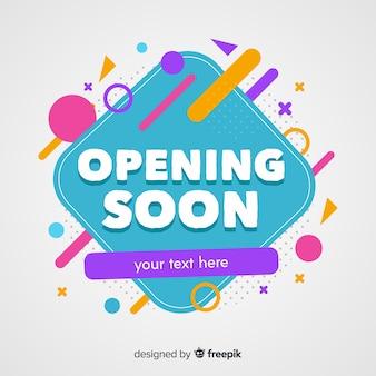 Opening soon in flat design