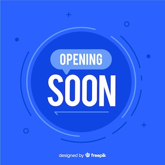 Opening soon modern background with typography
