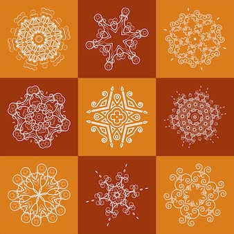 Openwork element for design, napkin fabric