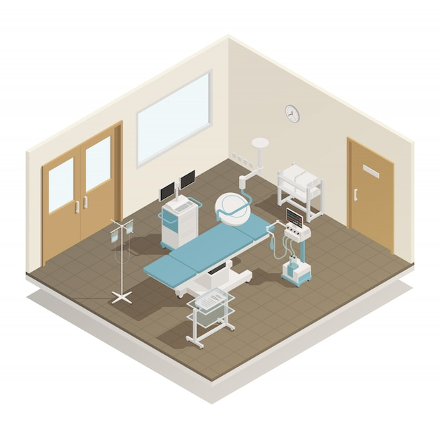 Operation room equipment isometric