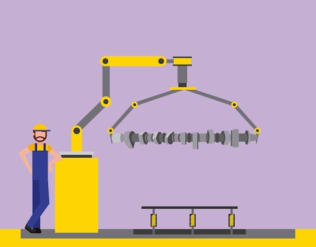 Operator factory automotive robotic arm connecting rod