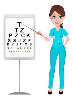 Женщина офтальмолога